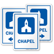 Chapel Prayer Room Sign with Church Symbol