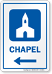 Chapel Left Arrow Hospital Sign
