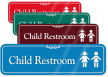 Child Restroom with Graphic ShowCase™ Wall Sign