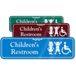 Children Bathroom Wall Sign