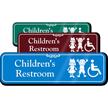 Children Bathroom Wall Sign