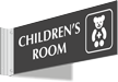 Childrens Room Corridor Projecting Sign