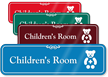 Children's Room Hospital Showcase Sign
