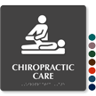 Chiropractic Care TactileTouch Braille Hospital Sign