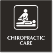 Chiropractic Care Engraved Hospital Sign