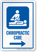 Chiropractic Care Right Arrow Hospital Sign