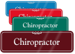 Chiropractor Medical Office ShowCase Wall Sign