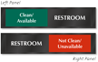 Clean Available Or Not Clean Unavailable Restroom Slider Sign