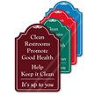 Clean Restrooms Promote Health ShowCase Sign
