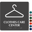 Clothes Care Center TactileTouch™ Sign with Braille