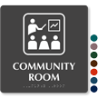 Community Room TactileTouch Braille Sign with Graphic