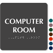 Computer Room Tactile Touch Braille Door Sign
