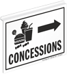 Concessions 2 Sided Z Sign for Ceiling