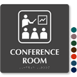 Conference Room TactileTouch Braille Sign