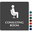 Consulting Room TactileTouch Braille Hospital Sign