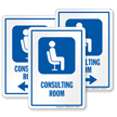 Consulting Room Hospital Sign with Symbol