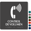 Control de Volumen Spanish TactileTouch Braille Sign