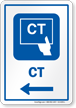 CT Left Arrow Hospital Sign
