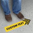 Custom Arrow Shaped SlipSafe Floor Sign Add Custom Text