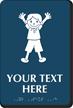 9in. x 6in. Custom School Braille Restroom Sign