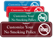 Custom ShowCase No Smoking Electronic Cigarettes Sign