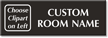 Custom Select-a-Color Engraved Room Sign, Choose Clipart