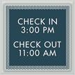 Optik General Information Sign, 7.75 in. x 7.75 in.