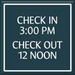 Custom General Information Sign