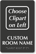 Custom TactileTouch Room Sign With Braille, Choose Clipart
