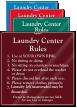 Custom Laundry Center Rules Designer Sign