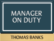 Custom Manager On Duty Sign