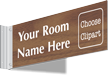 2-sided Custom Engraved Corridor Sign