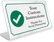 Custom Social Distancing ShowCase Desk Sign