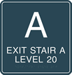 Custom Braille Stairway Sign
