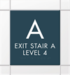 Custom Stairway - Level Indicator Sign
