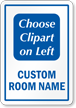 Custom Room Sign, Choose Clipart