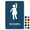 Women Party Restroom TactileTouch Braille Sign