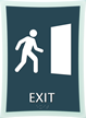 Exit Sign, 11.375 in. x 8.375 in.