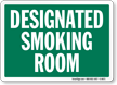 Designated Smoking Room (green)