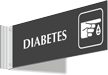 Diabetes Corridor Projecting Sign