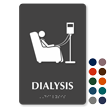 Dialysis TactileTouch Braille Hospital Sign