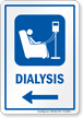Dialysis Left Arrow Hospital Sign