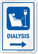 Dialysis Right Arrow Hospital Sign
