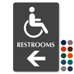 Restrooms Directional Sign