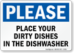 Place Dirty Dishes In Dishwasher Please Sign