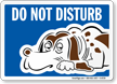 Do Not Disturb Sign - Dog Sleeping Symbol