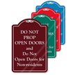 Do Not Prop Open Doors ShowCase Sign
