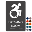 Dressing Room Sign with Updated Accessible Pictogram