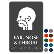 Ear, Nose and Throat Braille Sign, ENT Symbol