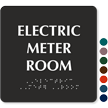 Electric Meter Room Tactile Touch Braille Sign
